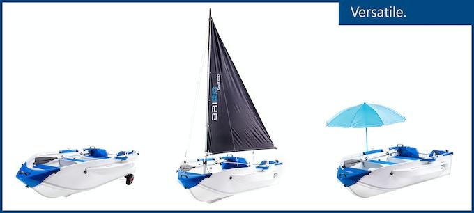 One boat, three options.