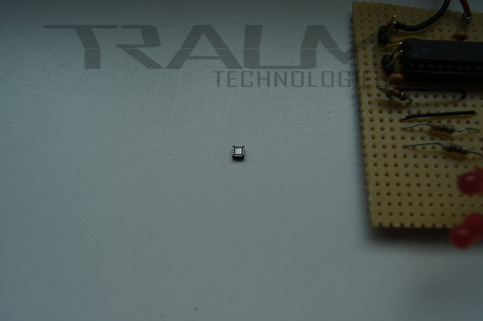 This is one of the sensors we are using. Quite tiny, right?