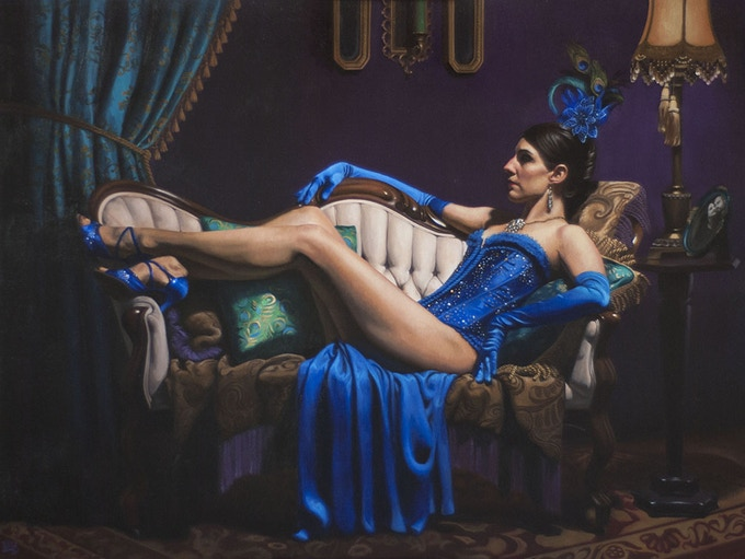 """""""Eartha Delights IV"""" Oil on Canvas Adhered to Panel 48"""" x 36"""""""