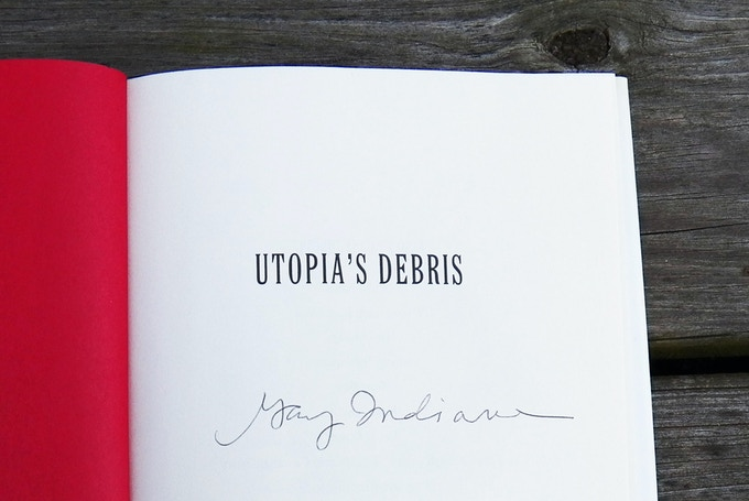 "Detail of Gary Indiana ""Utopia's Debris"""