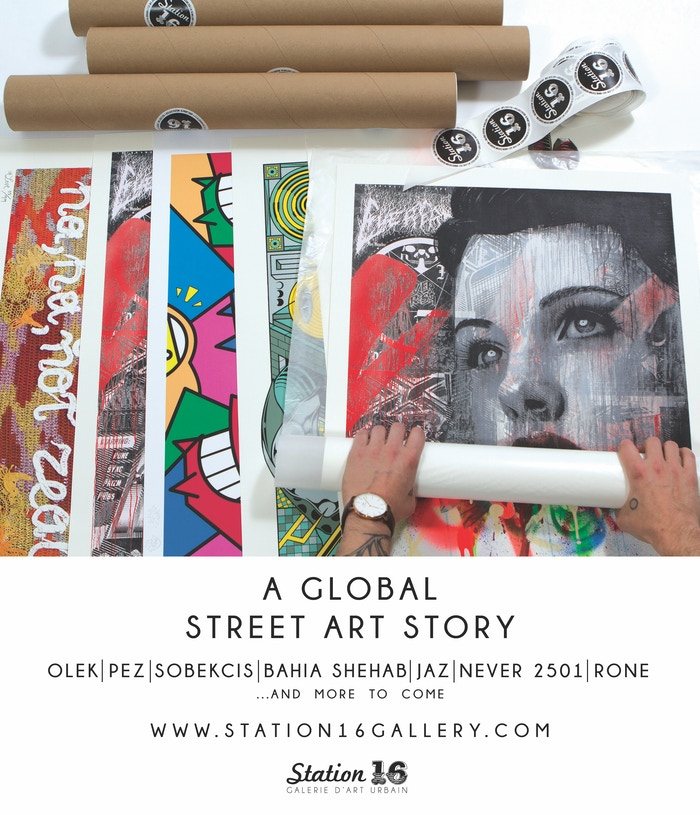 Station16 is a Montreal-based print shop aiming to create 16 silkscreen prints, with 16 artists from around the world, in 16 months.