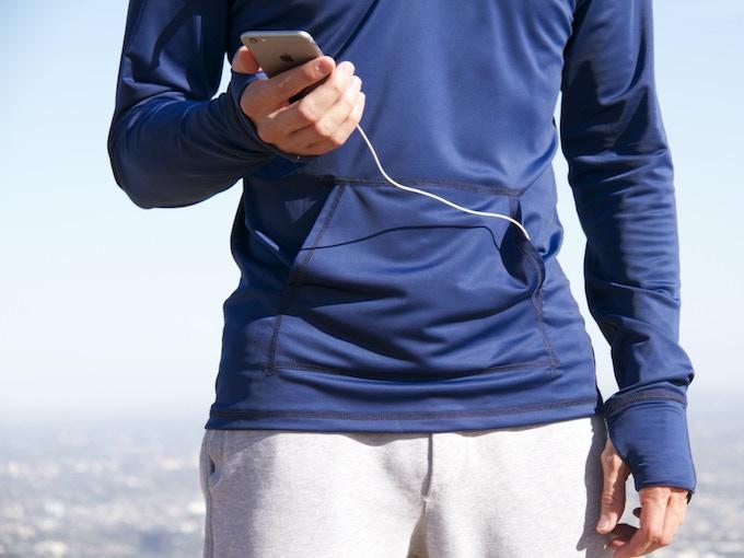 Fingerless Sport Glove and Hidden Device Pocket