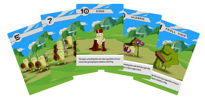 'Battle for Beanville' playable prototype cards