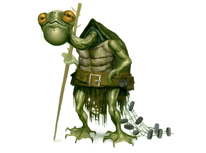 The grumptyn are a placid swamp dwelling people that fish and keep to themselves.