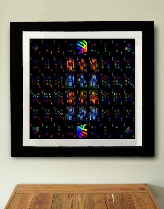 Uncut sheet in frame