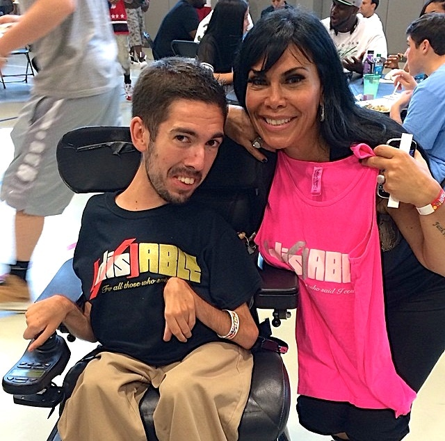 Renee Graziano of Mob Wives disables her limits with a pink tank!