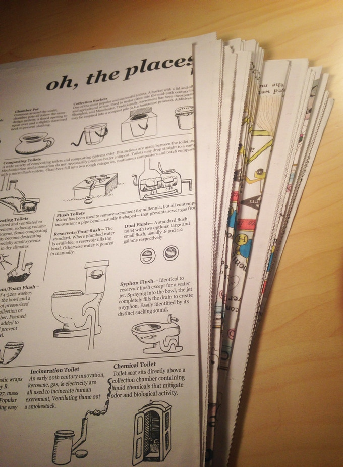 Two posters are printed on one newsprint broadsheet