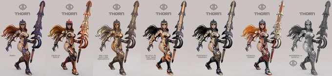 THORN VARIATIONS - SEE BELOW FOR MORE DETAILED VERSIONS