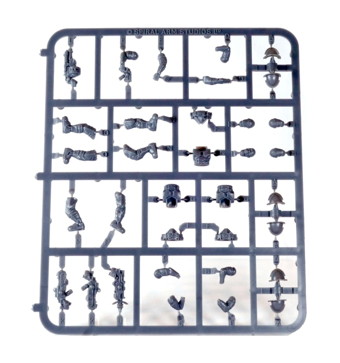 One of the many plastic sprues - Karist Troopers