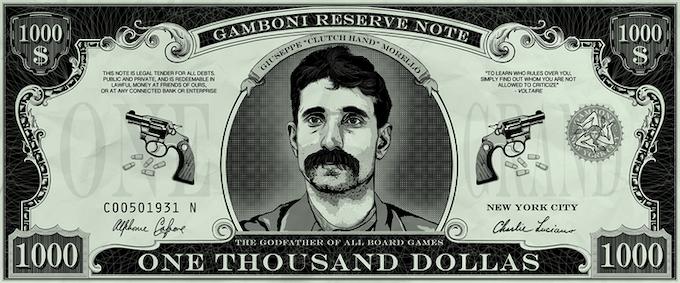 "50 x GAMBONI $ 1,000 dollas ""Mustache Pete"". Size: 10 * 4 cm / 4"" * 1"""