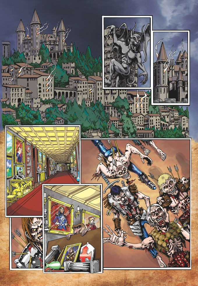 "Page 1 Colours of ""The Relic"" by Gary O'Donnel and written by Mike Lynch from Shit Flingers: Bestiary #6"