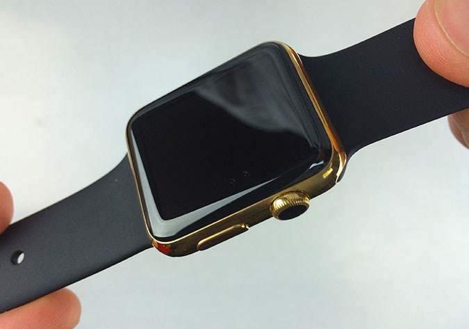 Gold Plated Apple Watch Front