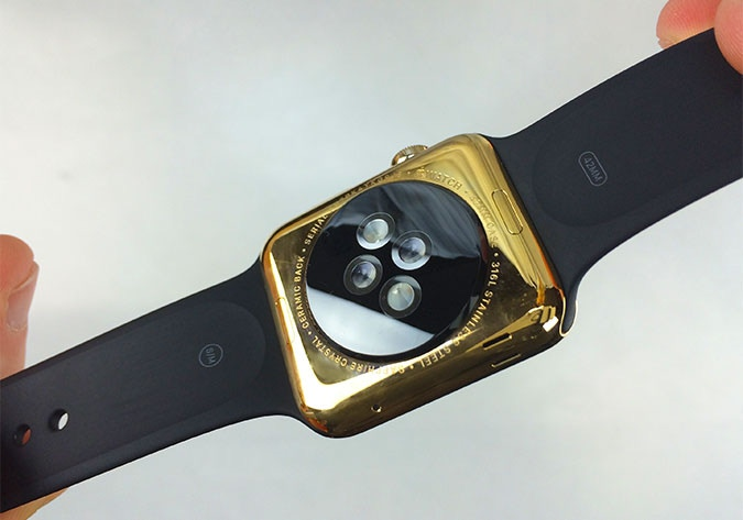 Gold Plated Apple Watch Back