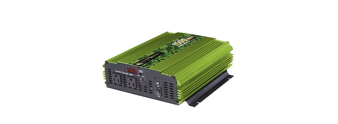 For example: Power Bright ML1500-24 MSW 24 Volt Power Inverter from DirectDepot $155