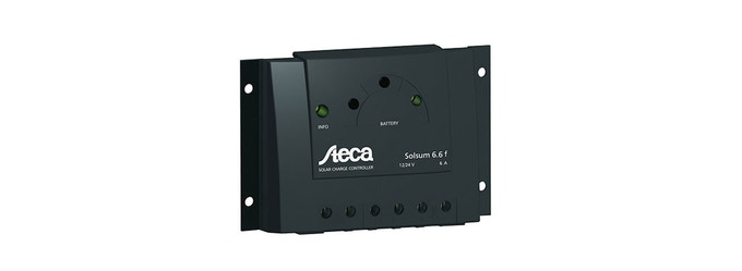 For example: Samlex SOLSUM 6.6 F Solar Charge Controller from DirectDepot for $30
