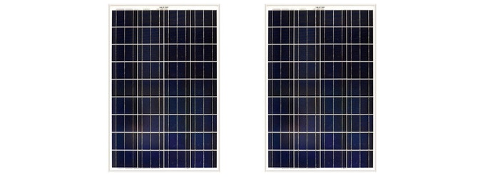 For example: the 2 panel set 100W Watt Solar Panels + Shipping included for $252