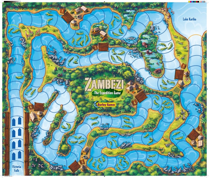 Shared Board Cause To Pause: Zambezi! An Expedition Game Along The Famous African River