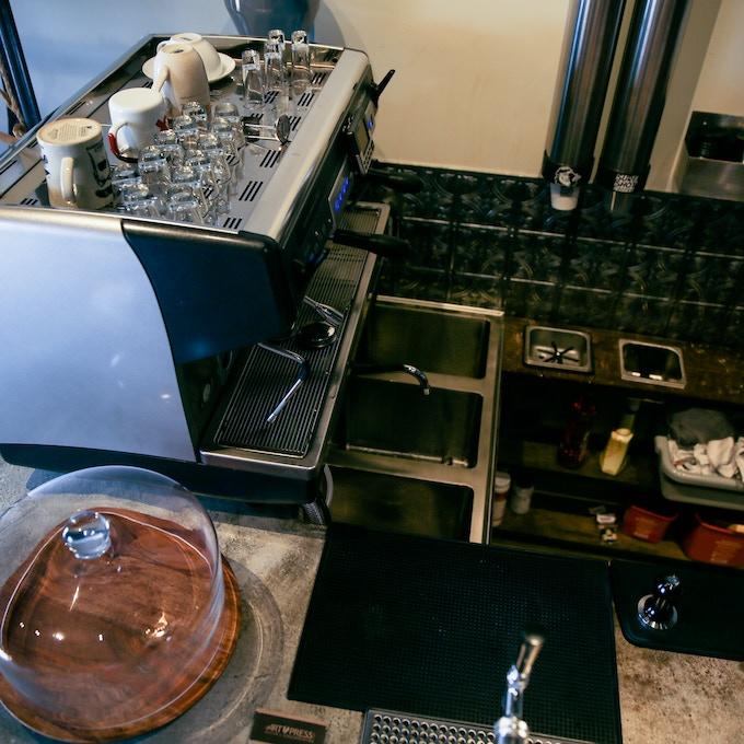 Sure Shot Coffee- Espresso Machine and Counter