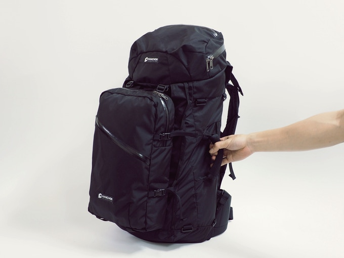 Breccia travel pack with Clast daypack