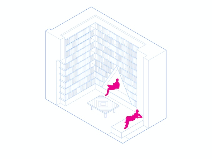 Library Axonometric by A Squared.