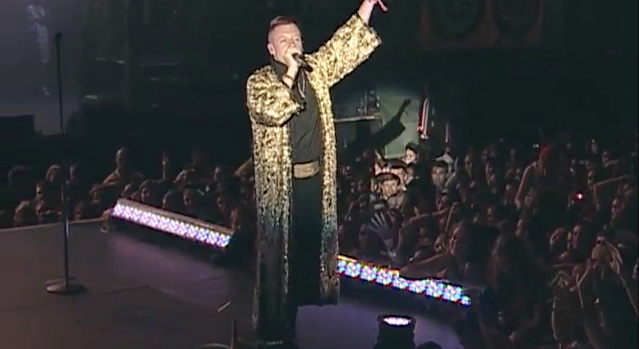 Seattle Native, Macklemore, performing at The Gorge. Photo: Live Nation