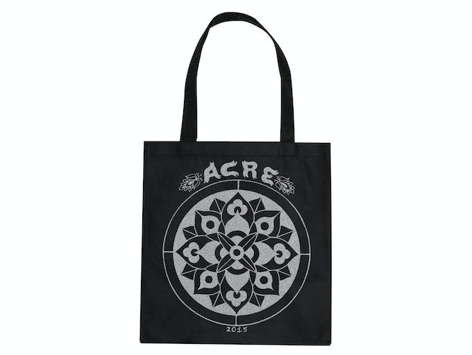 Mock up of tote bag design by Carrie Vinarsky.