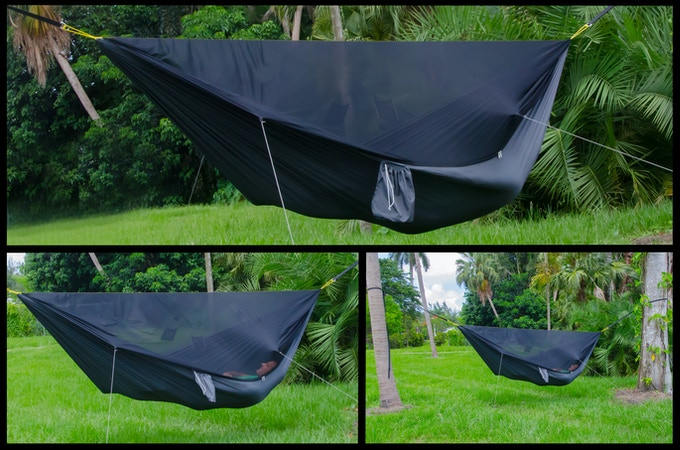 The GO! Hammock with the Integrated Bug Net Option. Details are at the bottom of this page.