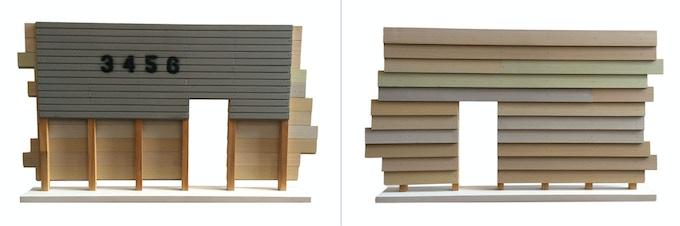 """Paul Erschen, """"Wall Section"""" Poplar, White Pine, Latex, 2012"""