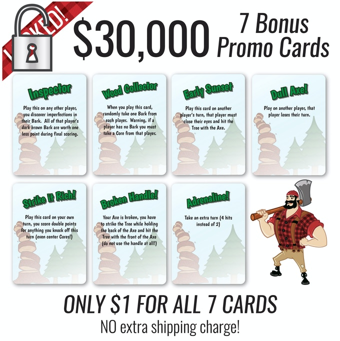 Note: This is just a $1 add on for all 7 cards. You are limited to just one set of bonus cards per copy of the game pledged for.