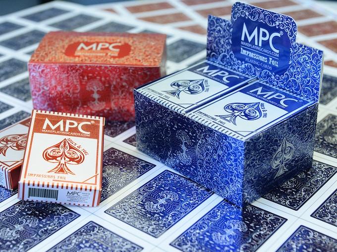 Metallic bricks, Metallic tucks and Metallic card backs
