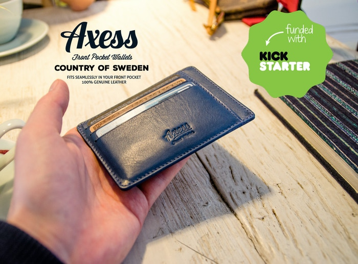 Axess: Front Pocket Wallets in Italian Leather by Tomas