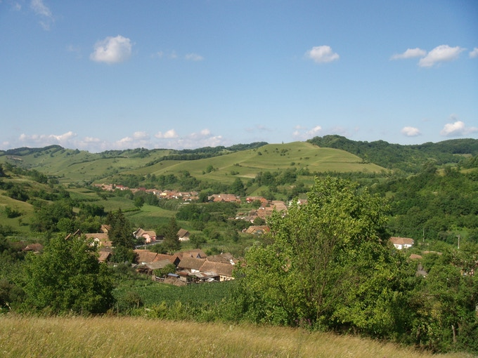 Paula's village in Transylvania