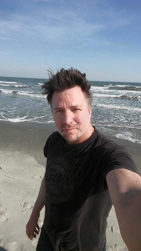 Me on the beach in Charleston, SC thinking about this project
