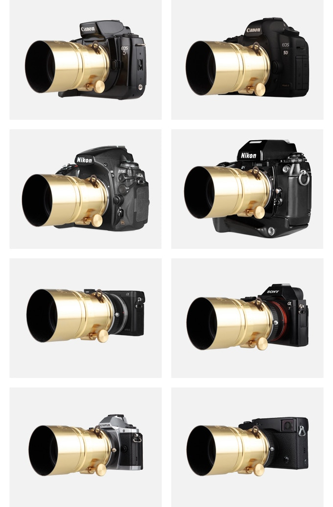 The New Petzval 58 works with tons of different analogue and digital cameras