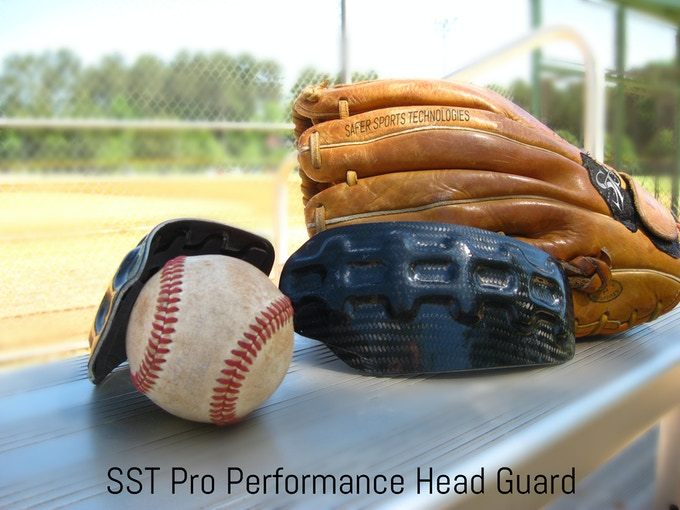 0c750ee04 Carbon Fiber Head Protection for Baseball Pitchers by Safer Sports ...