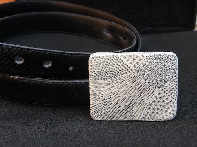 Reward #19. Belt Buckle - Design: FRACTAL.