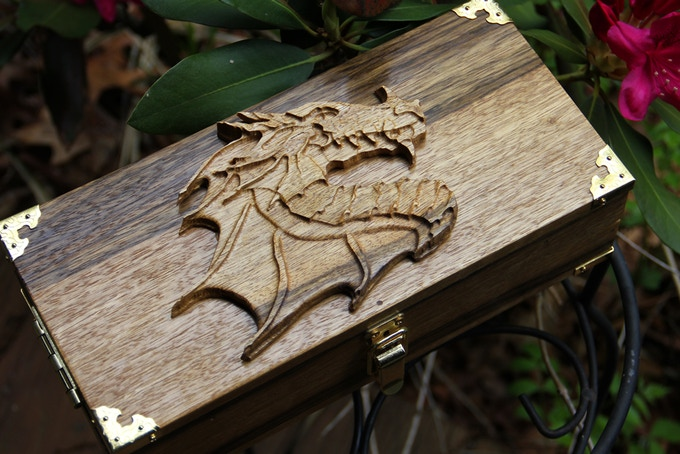 Black Limba with Dragon Profile wood sculpt.