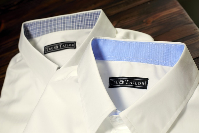 100% Cotton Custom Shirts with Accented Collars