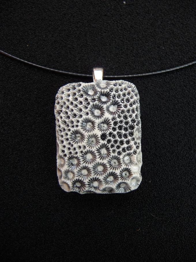 Reward #7.  Small Rectangle Pendant - Design: POLLEN.