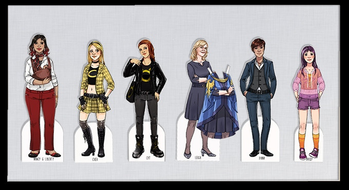 New character designs by Suze Shore for Volume 2