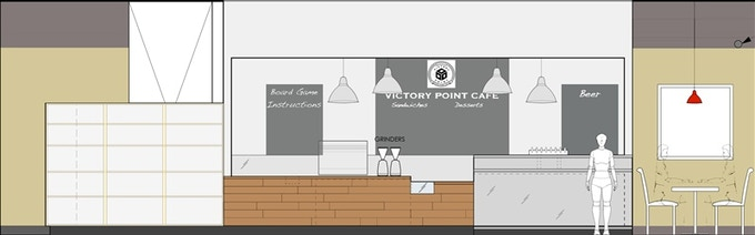 Victory Point Cafe Mock-up (may not reflect final design)