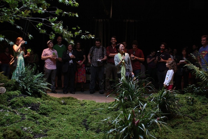 New York City Council Member Margaret Chin along with other elected officials at a Lowline event at our 2012 exhibit.