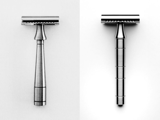 The Mark K (left) and Mark One (right) razors