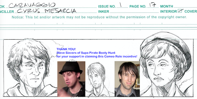 Steve Sievers claimed this Issue #1 cameo role, now off to our colorist!