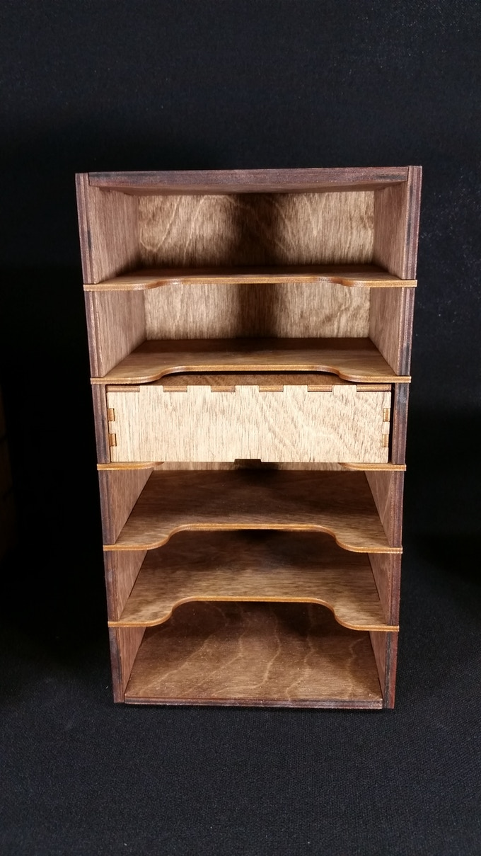 Walnut Stained Single Stack Unit
