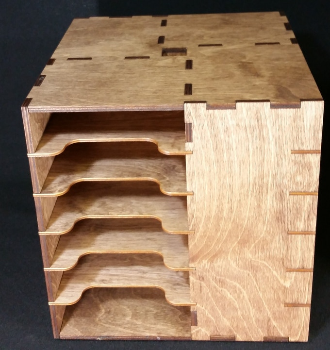 Walnut Stained Cube