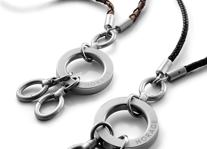 Stainless - Leather Lanyard