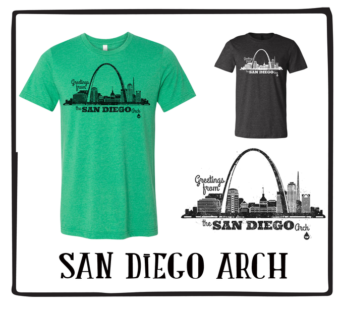 San Diego Arch (Available in Kelly Green & Black)