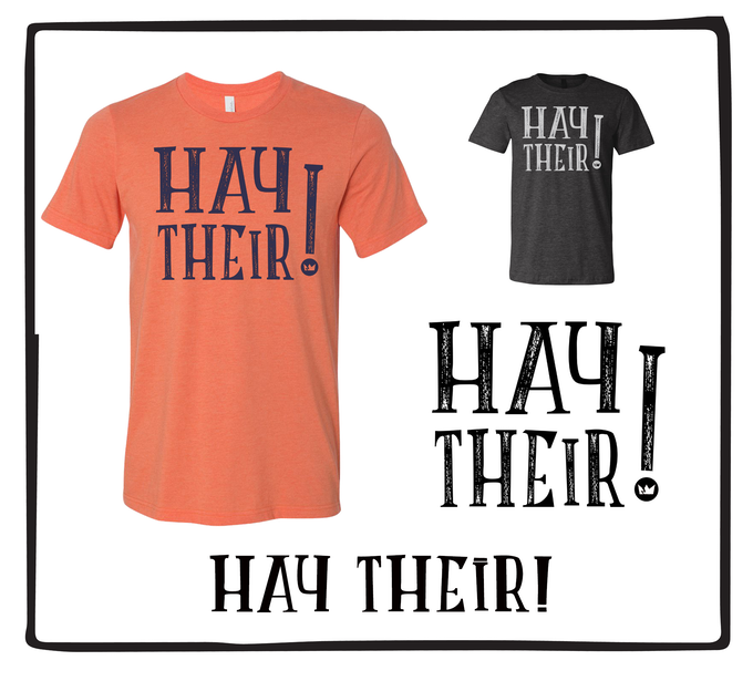 Hey Their! (Available in Orange & Black)