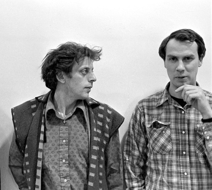Philip Glass and Robert Wilson. New York, 1975 © Richard Landry